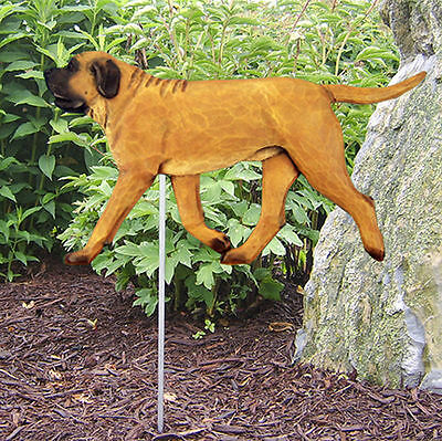 Mastiff Outdoor Garden Dog Sign Hand Painted Figure Apricot