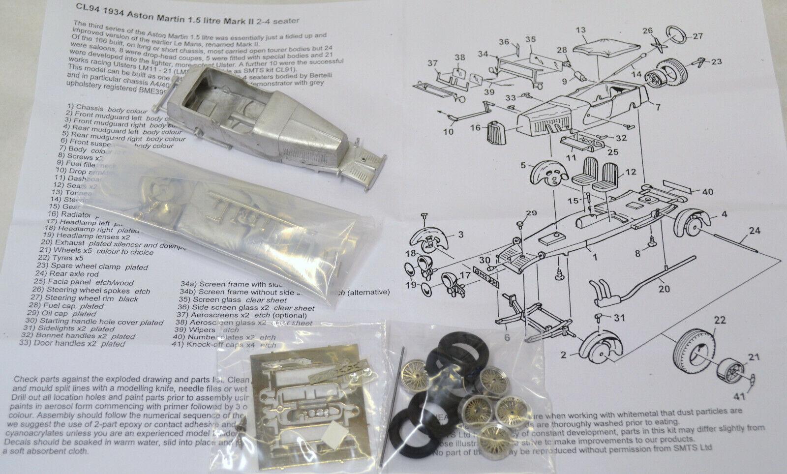 1 43 CL94K Aston Martin 1.5 L Mk.2 Kit by SMTS