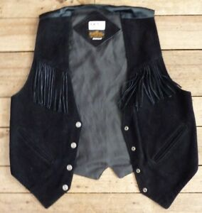Vintage-Women-Black-Suede-Medium-Coat-Used-parts-or-and-spots