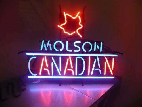"""New Molson Canadian Maple Canada Artwork Beer Neon Sign 24/""""x20/"""" Poster Light"""