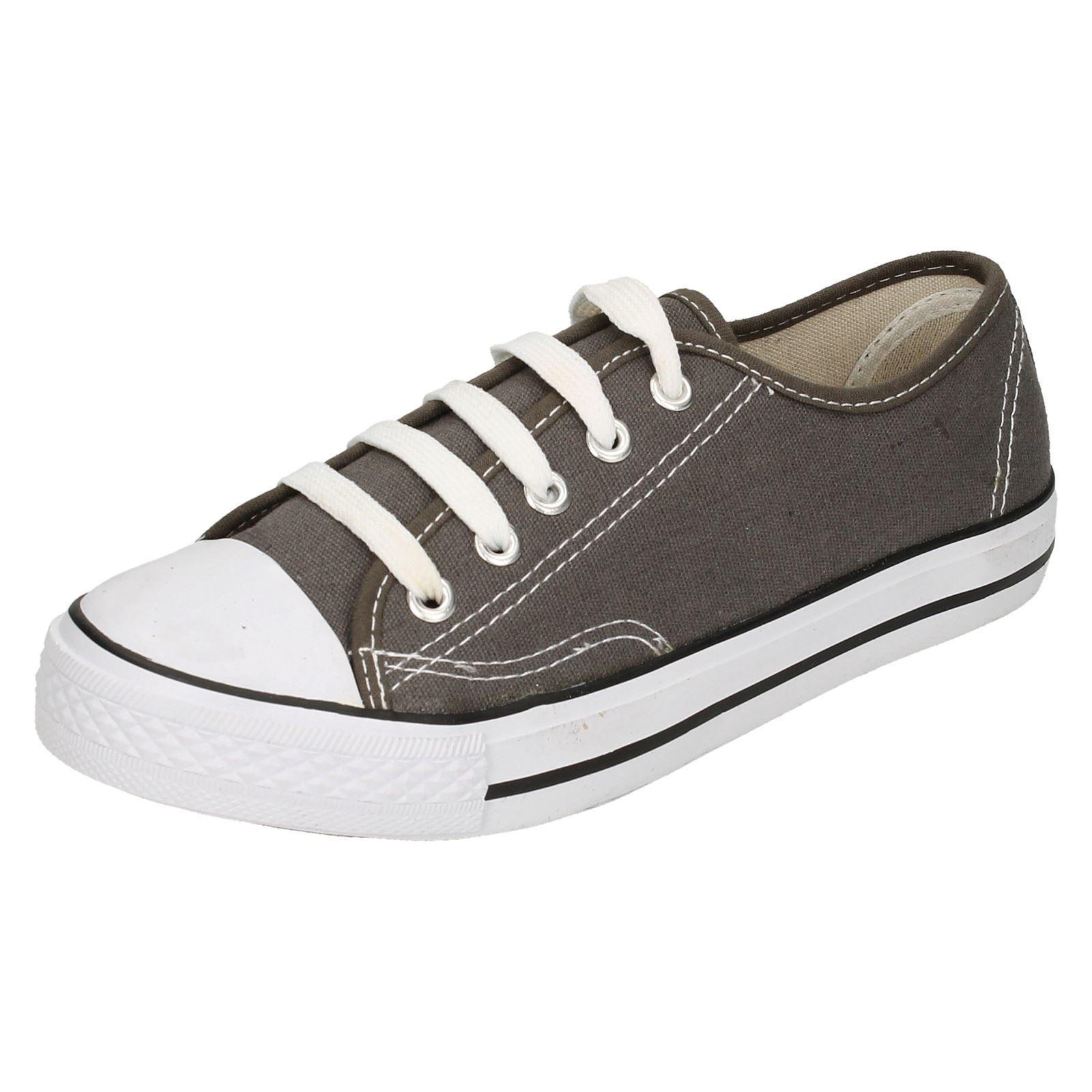 Hombre X0001 Zapato Gris Lona con Cordones Zapato X0001 por Spot On 57514e