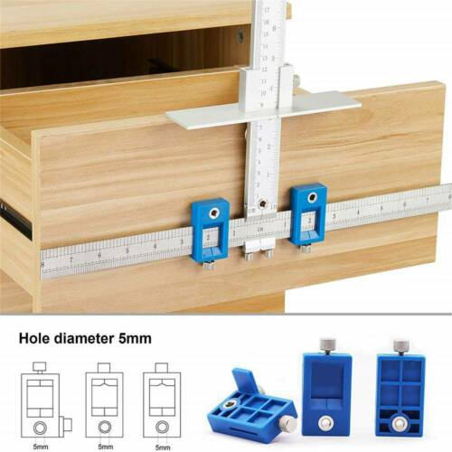 Metal Wood Dowel Woodworking Tools Jig Drill Guide Cabinet Handle Template