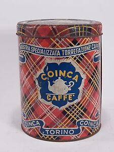 ANTICA-RARA-SCATOLA-LATTA-CAFFE-039-COINCA-TORINO