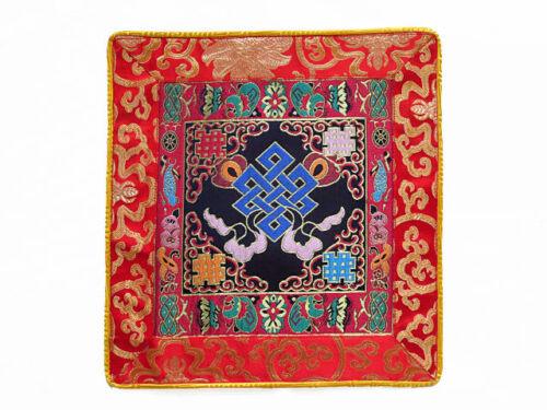 Endloser Knoten Tibetische Brokatdecke Lotus Lotos Nepal