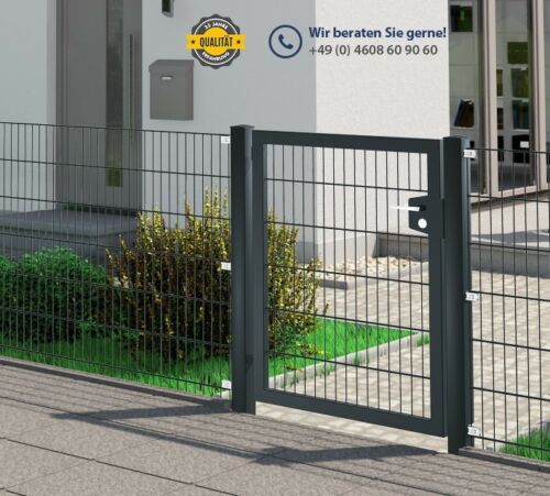 anthrazit verschiedene Höhen Tor Premium 1-flügelig 1,25m breit Gartentür