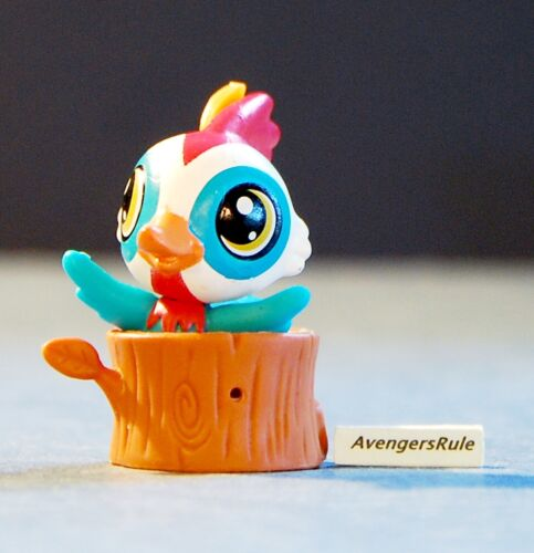 Littlest Pet Shop Pet Hideouts Series 2 #3937 Bird Parrot Blue