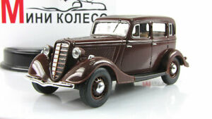 Scale-car-1-43-GAZ-M1-Burgundy-1938