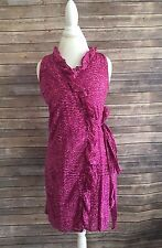 Ann Taylor Loft Career Spring Summer Ruffle Dress Size 6