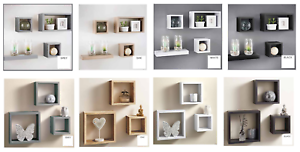 Set-of-3-or-4-Floating-Wall-Shelves-Storage-Display-Shelf