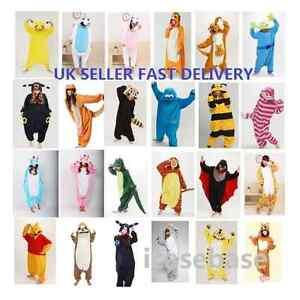 Anime-Cosplay-Kigurumi-Pyjamas-Animal-Unisex-Onesie23-Fancy-Dress-Sleepwear-UK