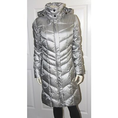 Bogner Fire + Ice Dalia-D Down Coat - Women's 34 US 4 XS - Platinum Silver - NEW