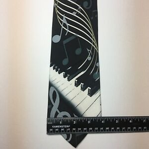 Fratello Tie Blue Song Notes Piano Novelty Tie
