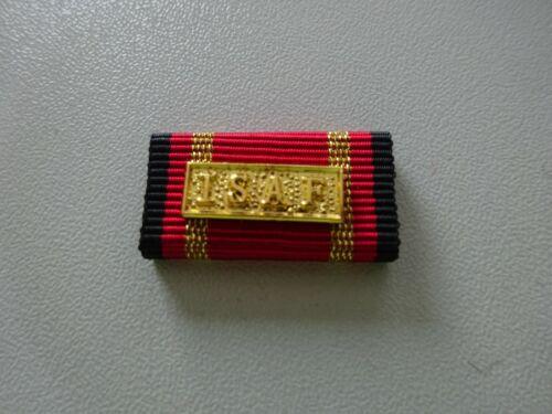 Bundeswehr Einsatzmedaille Ordensspange BW-Format  ISAF gold