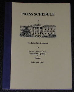 Official-George-W-Bush-Presidential-2003-Trip-Book
