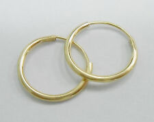 SALE Genuine 10k Yellow Gold Highly Polished Small Hoop Earrings Hoops #723