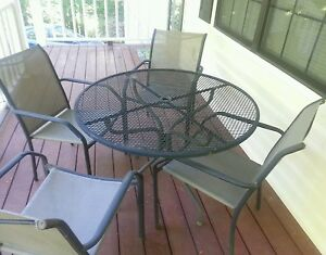 Wrought iron patio furniture ebay - Used wrought iron furniture ...