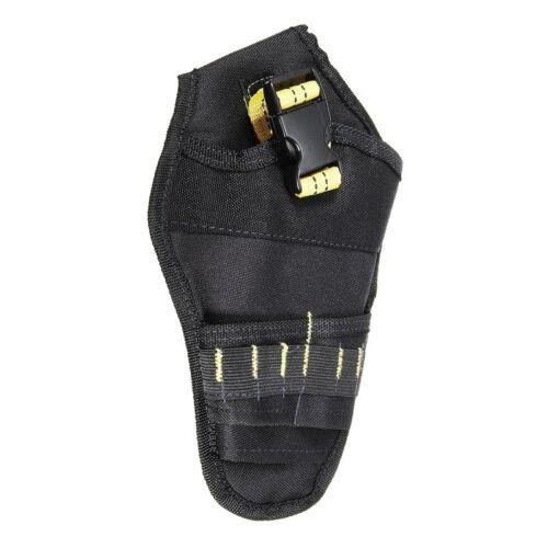 Drill Holster Cordless Tool Holder Heavy Duty Belt Pouch Bag Pocket #E4 UK
