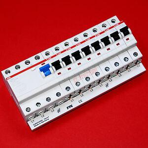 ABB-FI-F204A-40-0-03-8x-ABB-Sicherungsautomat-S201-B16-1x-FTG-Sammelschiene
