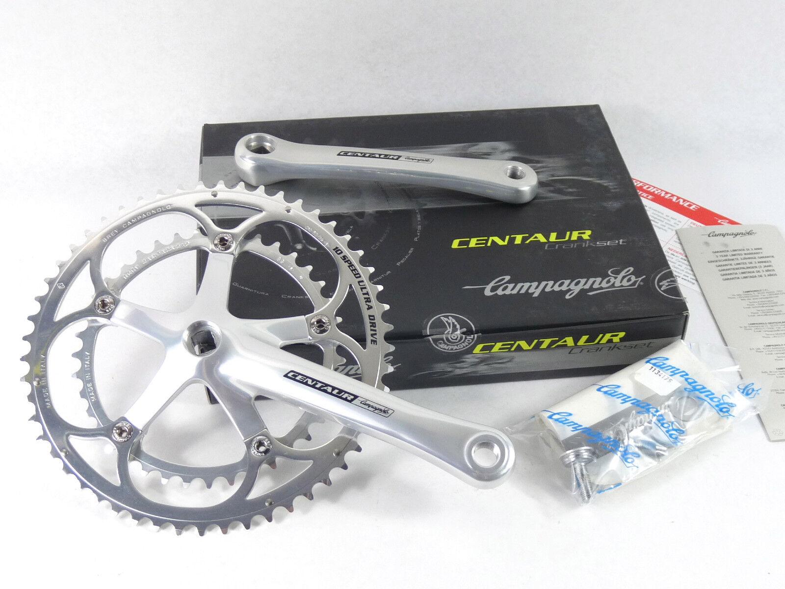 Juego de bielas Campagnolo Centauro 10 velocidad 172.5mm 53 39 Ultra Drive Bicicleta nos