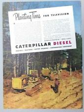 Original 1946 Caterpillar Tractor Ad PLANTING TIME FOR TELEVISON IN 1946