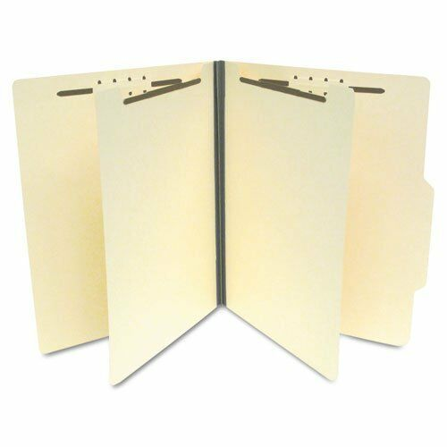SJ Paper Economy Classification Folders, Letter Size, 6 fasteners, Manila