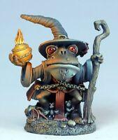 Frog Wizard Dsm 7912 Visions In Fantasy - Dark Sword Miniatures Pewter Sorcerer