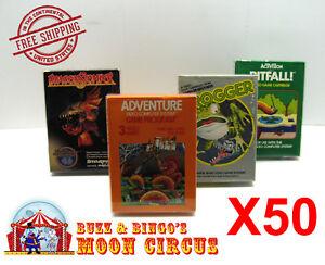 50X-ATARI-2600-CIB-GAME-BOX-CLEAR-PLASTIC-PROTECTIVE-BOX-PROTECTOR-SLEEVE-CASE