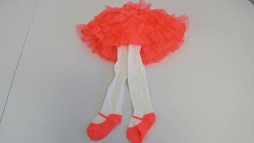 Gymboree Animal Friends Coral Tutu Skirt w//Attached Tights SZ 6-12-18-24 Mos NEW
