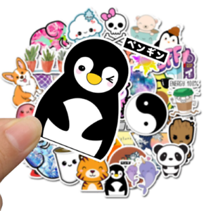 50-anime-Kawaii-StickerBomb-retrostickern-Pegatina-Sticker-Mix-Decals-pinguino