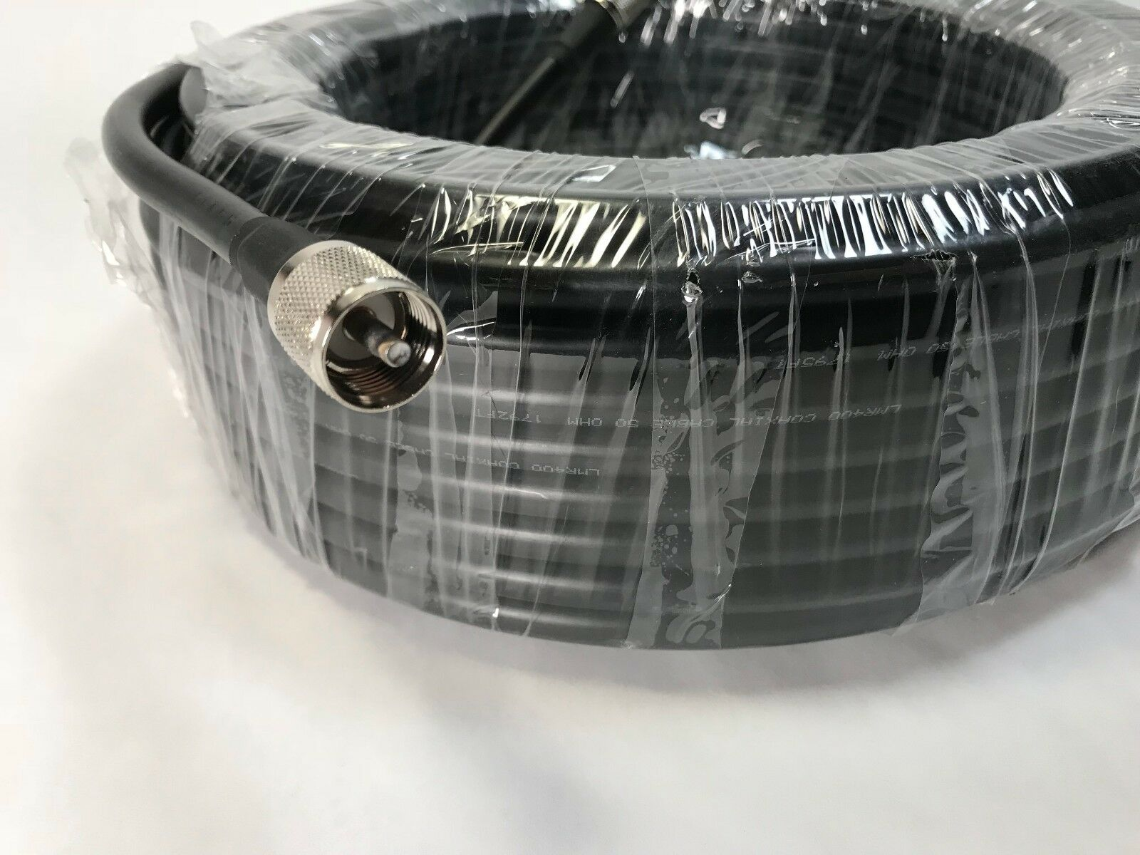 100FT LMR-400 COAX COAXIAL ULTRA LOW LOSS CABLE w/ MALE PL-259 CB HAM RADIO USA. Available Now for 117.95