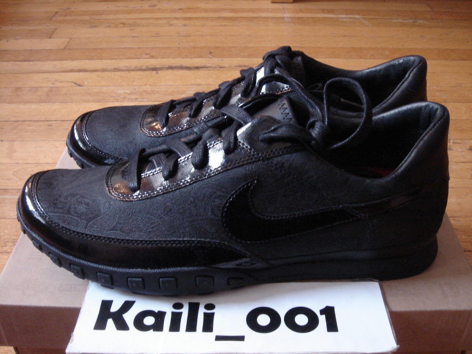 Nike Waffle Racer III 313497-006 Black/Black-Dark Red 2009 OG Original B