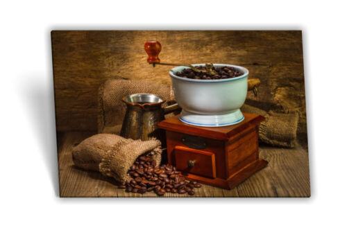 Toile-image Châssis-Image Café-Haricots Café-Tasse de Café-Moulin petit déjeuner