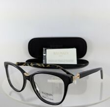 f75a13f1c70 Brand New Authentic Balmain Eyeglasses BL 1077 01 Black Gold 53mm Frame