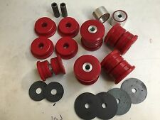 BMW E36 M3 EVO REAR SUBFRAME BUSHES & DIFF Mounts -RED Duraflex Polyurethane
