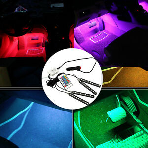 4x 9 led lampe ampoule rgb lumi re d co voiture int rieur cigare t l commande nf ebay. Black Bedroom Furniture Sets. Home Design Ideas