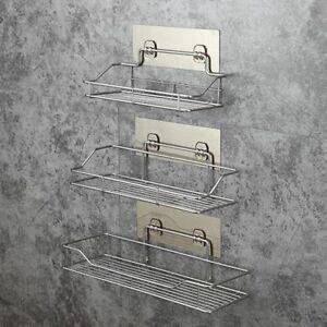 Stainless-Steel-Bathroom-Rack-Wall-Suction-Soap-Holder-Toothbrush-Razor-Shampoo
