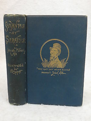 Holley  SAMANTHA AT SARATOGA or FLIRTIN' WITH FASHION 1887 1stEd