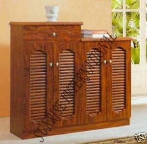 Home Furniture Wooden Shoe Rack Cabinet Sideboard Ebay
