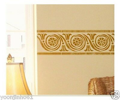 "STENCIL WALL STENCILS PATTERN 12.99""x9.05"" Airbrush TEMPLATE LARGE Roma"