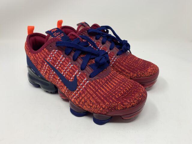 Nike Air Vapormax Flyknit 3 GS Noble Red Blue Size 5Y Women's 6.5 BQ5238-602