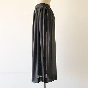 zara sheer gray boho pleated maxi skirt xs ebay