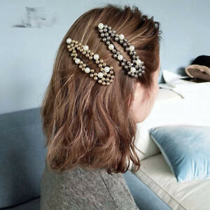 New-Fashion-Water-Drop-Crystal-Hair-Clips-Snap-Barrette-Hairpin-Bobby-Hair-Band