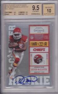 DEXTER-MCCLUSTER-RC-2010-PLAYOFF-CONTENDERS-ROOKIE-TICKET-AUTO-BGS-9-5-10-AUTO