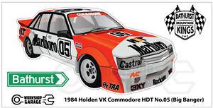 Sticker-1984-Holden-VK-Commodore-HDT-No-05-Big-Banger-Bathurst-Brock-Style-New