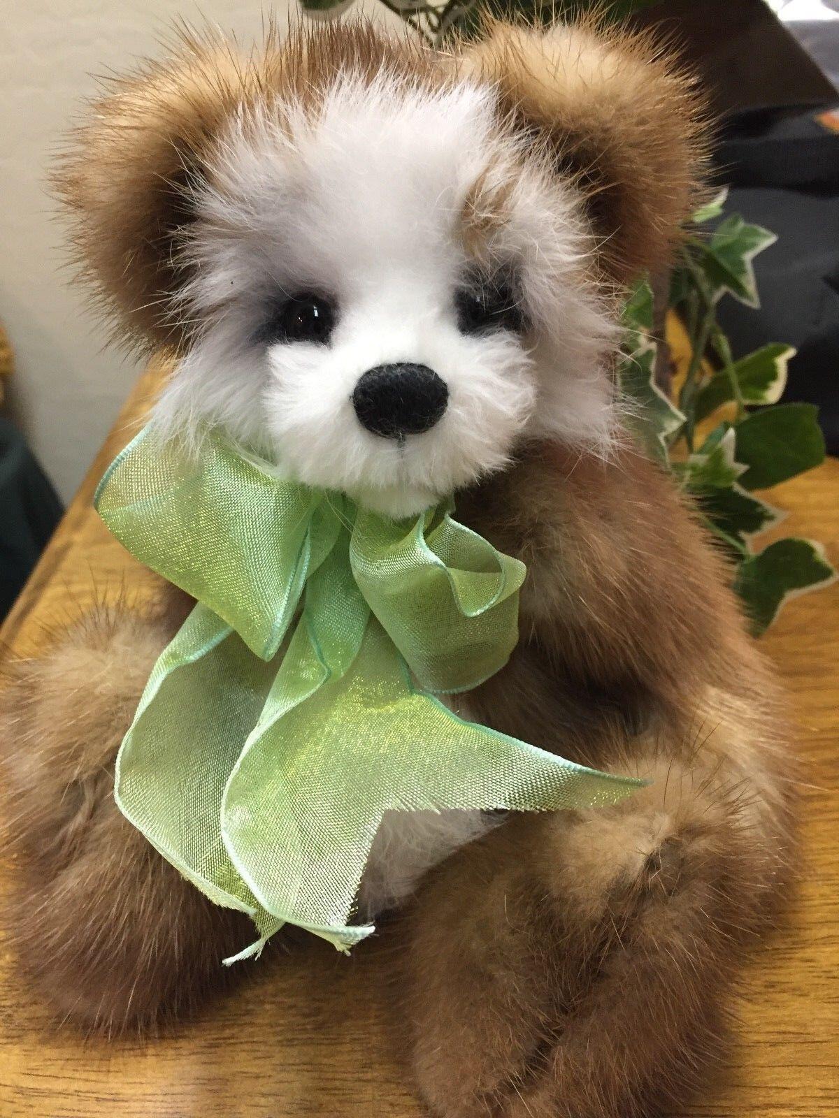 Susan Arnot Handmade Artist Bear, Recycled Mink and Rabbit Fur