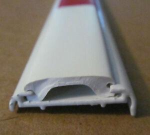 92 White Aluminum Vinyl Insert Type Rv Flat Molding Trim 1 1 8 X 1 8 Leg Ebay