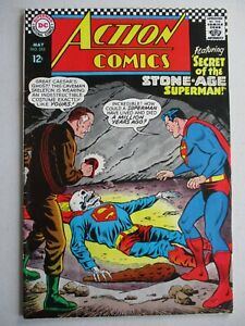 ACTION-COMICS-350-Stone-Age-Superman-Silver-Age-12-cent