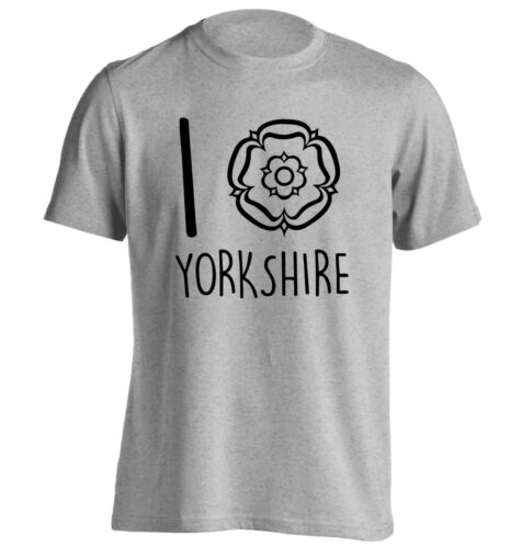 I Amor Yorkshire T-Shirt dialecto Rose moros Dales North West Yorkshire Regalo 5486