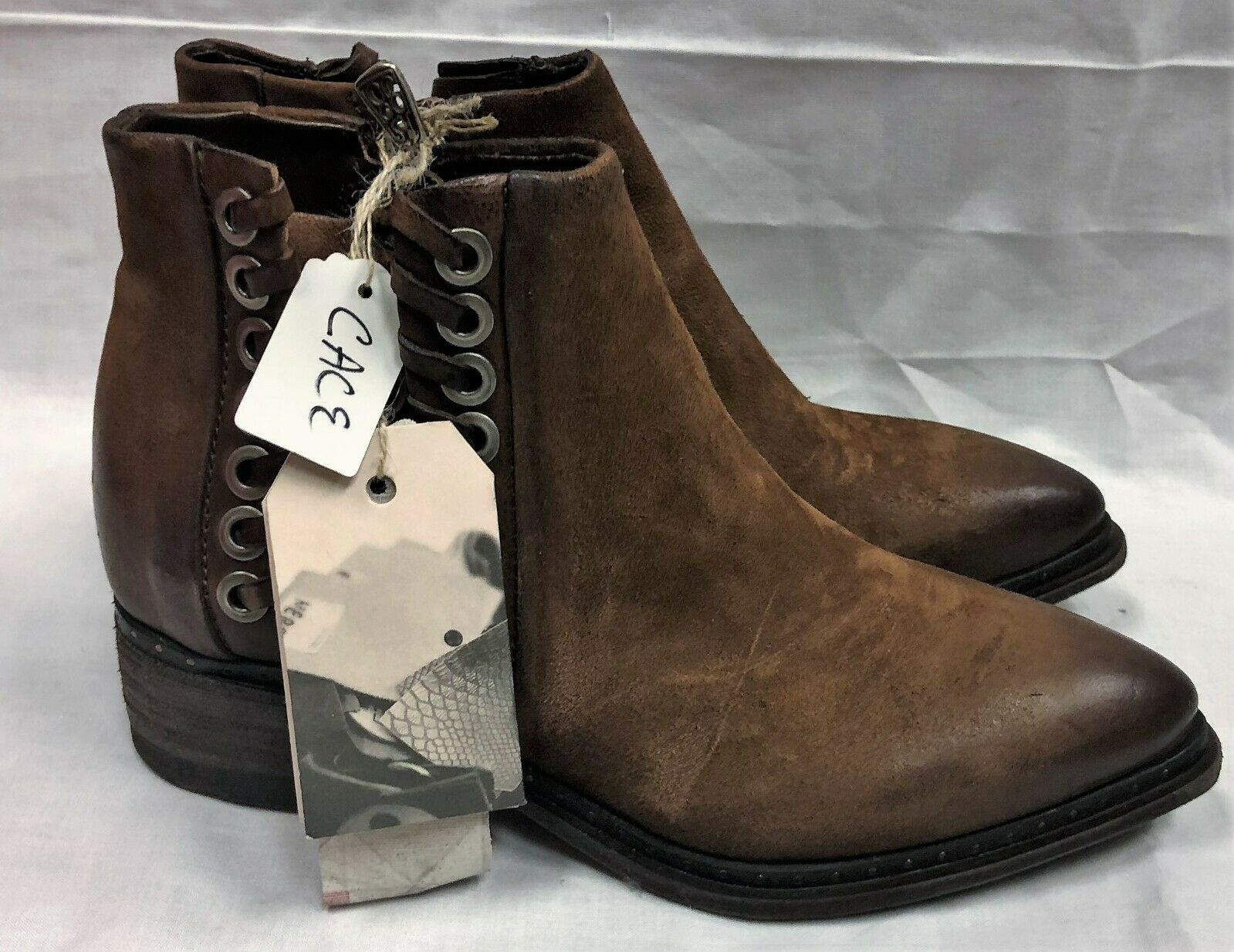 New in Box A.S.98 Women's Cace Style Calvados color Boots Size EU 36 US 5