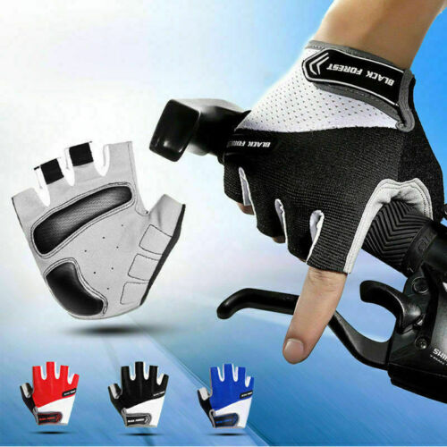 Road Mountain Bike Cycling Half Finger Gloves BMX MTB Bicycle Riding Fingerless